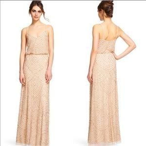 Adrianna pappell art deco beaded blouson dress